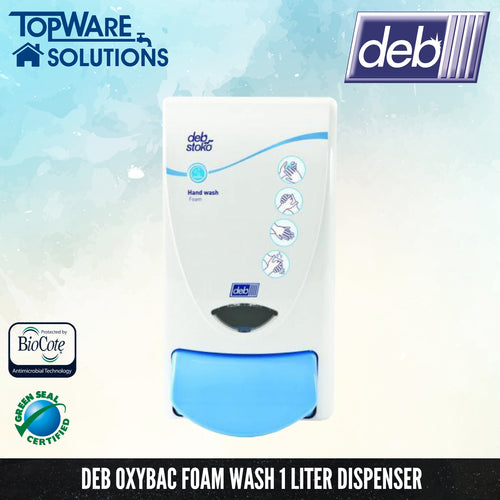 DEB Oxybac Foam Hand Soap Dispenser 1L, Hygiene Solution, DEB - Topware Solutions