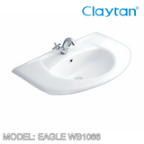 CLAYTAN Eagle Wall Hung Basin WB1066, Bathroom Basins, CLAYTAN - Topware Solutions