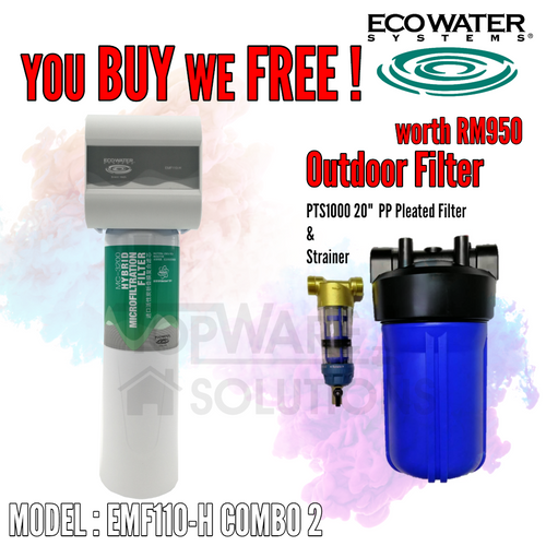 COMBO 2 - ECOWATER EMF110-H Healthy Drinking Water Filter System, Water Filters, ECOWATER - Topware Solutions