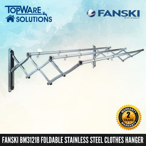 FANSKI BM31218 Stainless Steel Retractable Clothes Hanger (3 Bar), Clothes Hangers, FANSKI - Topware Solutions