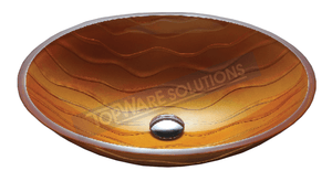 FANSKI Art Glass Counter Top Basin GS11-OIC14, Bathroom Basins, FANSKI - Topware Solutions