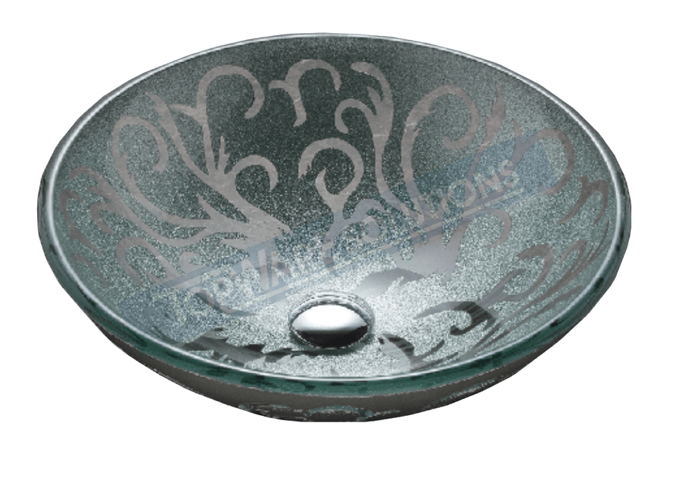 FANSKI Art Glass Counter Top Basin GS11-RIC12, Bathroom Basins, FANSKI - Topware Solutions