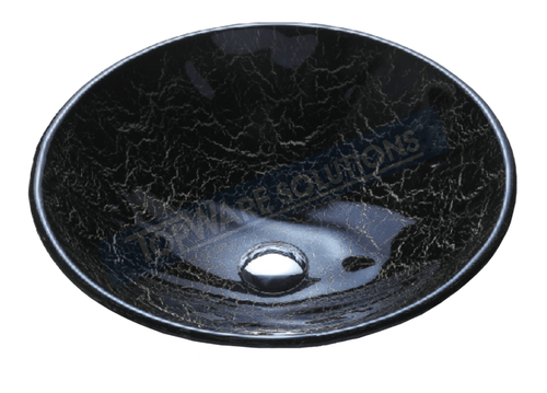 FANSKI Art Glass Counter Top Basin GS33-RHC18, Bathroom Basins, FANSKI - Topware Solutions