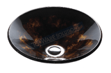 FANSKI Art Glass Counter Top Basin GS55-RAC01, Bathroom Basins, FANSKI - Topware Solutions