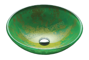FANSKI Art Glass Counter Top Basin GS55-RC16, Bathroom Basins, FANSKI - Topware Solutions