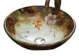 FANSKI Art Glass Counter Top Basin GS55-RC20, Bathroom Basins, FANSKI - Topware Solutions