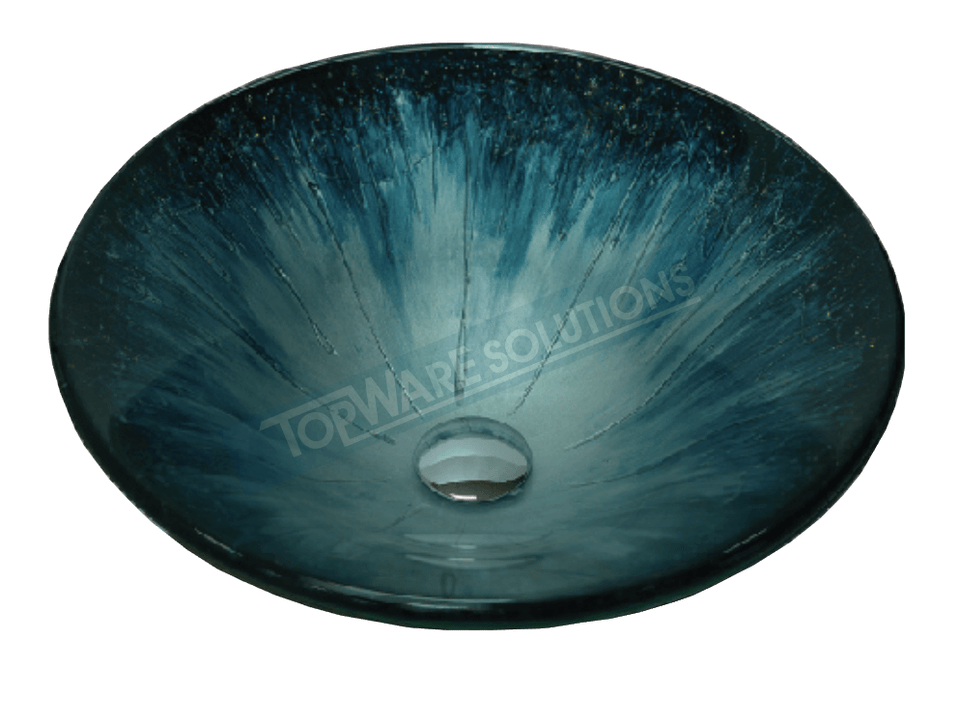 FANSKI Art Glass Counter Top Basin GS55-RFC21, Bathroom Basins, FANSKI - Topware Solutions