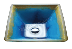 FANSKI Art Glass Counter Top Basin GS55-SC08 Bathroom Basins FANSKI - Topware Solutions