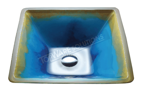 FANSKI Art Glass Counter Top Basin GS55-SC08, Bathroom Basins, FANSKI - Topware Solutions