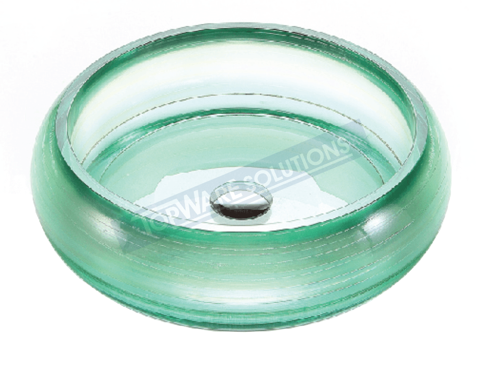FANSKI Art Glass Counter Top Basin GS66-RPP06, Bathroom Basins, FANSKI - Topware Solutions