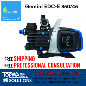GEMINI Whole House Water Pump EDC-E 850/45, Water Pumps, GEMINI - Topware Solutions