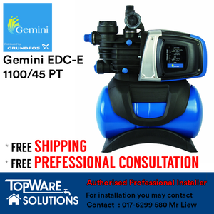 GEMINI Whole House Water Pump EDC-E 1100/45 PT, Water Pumps, GEMINI - Topware Solutions