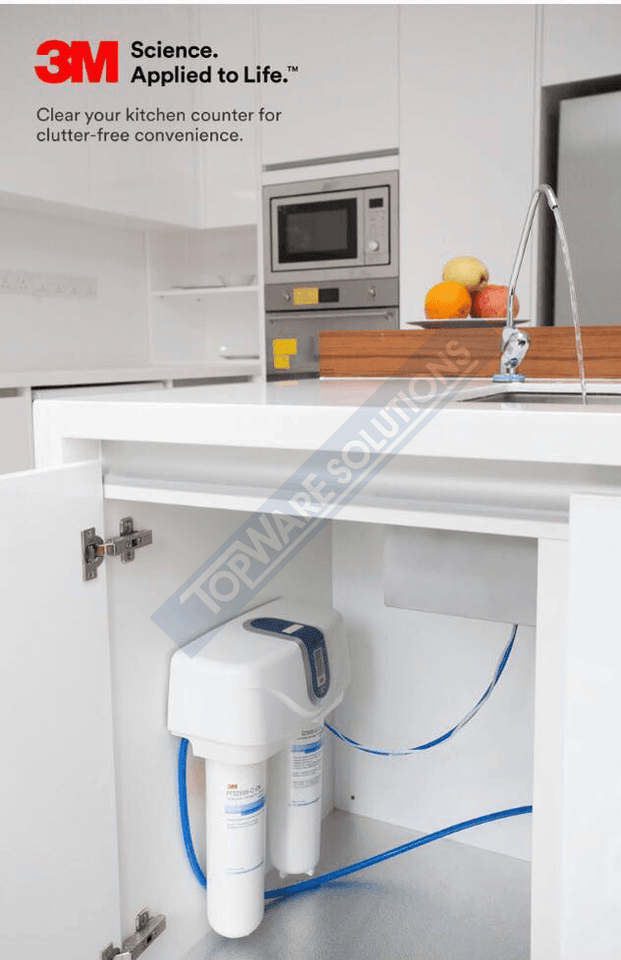 3M DWS2500T-CN Indoor Undersink Drinking Water Filter System, Water Filters, 3M - Topware Solutions