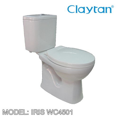 CLAYTAN Iris Close Couple Pan WC4501, Bathroom W.Cs, CLAYTAN - Topware Solutions