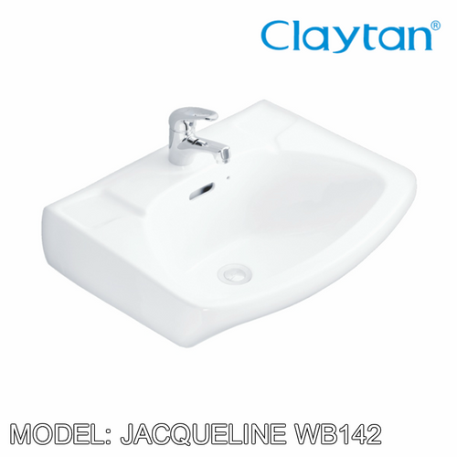 CLAYTAN Jacqueline Wall Hung Basin WB142, Bathroom Basins, CLAYTAN - Topware Solutions