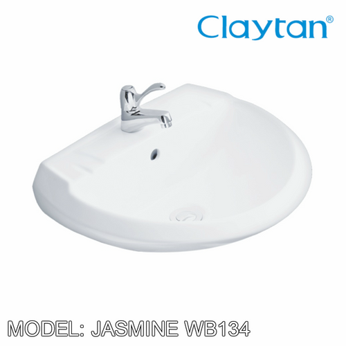 CLAYTAN Jasmine Wall Hung Basin WB134, Bathroom Basins, CLAYTAN - Topware Solutions
