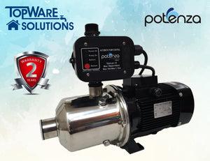 POTENZA PSW4-40/075 + PC10 Water Booster Pump With 2 Year Warranty, Water Pumps, POTENZA - Topware Solutions