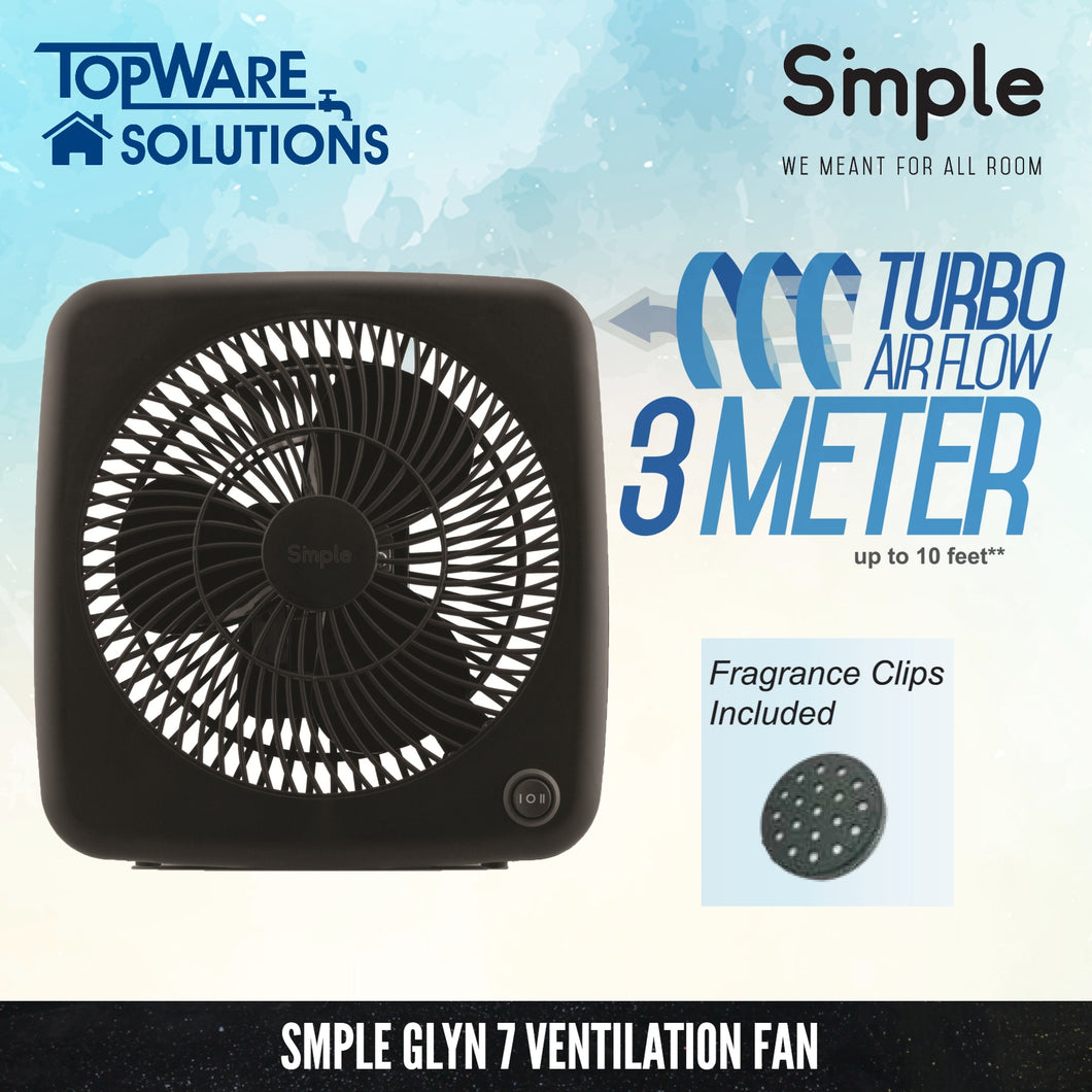 SMPLE GLYN 7 Ventilation Fan (Turbo Airflow 3 Meter), Ventilation, SMPLE - Topware Solutions