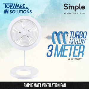 SMPLE MATT Ventilation Fan (Turbo Airflow 3 Meter), Ventilation, SMPLE - Topware Solutions