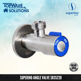 SUPERINO Angle Valve SR35239, Bathroom Faucets, SUPERINO - Topware Solutions