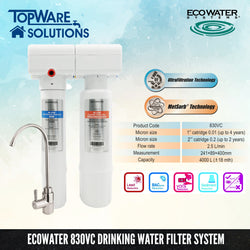 ECOWATER 830VC Healthy Drinking Water Filter System, Water Filters, ECOWATER - Topware Solutions