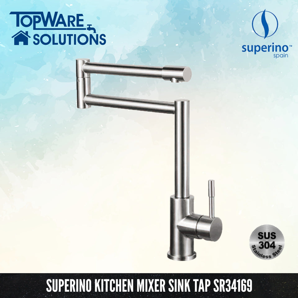SUPERINO Pillar Sink Tap SR34169, Kitchen Faucets, SUPERINO - Topware Solutions