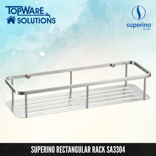 SUPERINO Rectangular Rack SA3304 [SUS304 Stainless Steel], Bathroom Accessories, SUPERINO - Topware Solutions