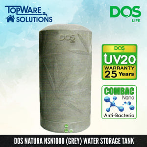 DOS Natura NSN1000 (Grey), Water Tank, DELUXE - Topware Solutions