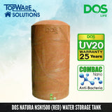 DOS Natura NSN1500 (Red), Water Tank, DELUXE - Topware Solutions