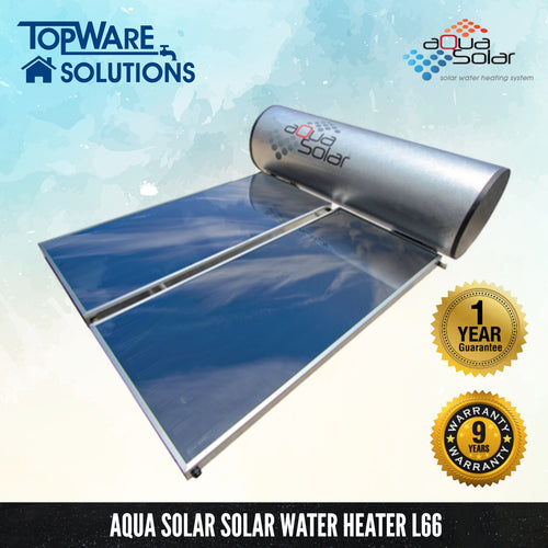 AQUA SOLAR Solar Water Heater L66 (Including Installation), Solar Water Heater, AQUA SOLAR - Topware Solutions
