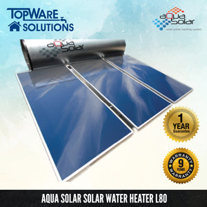 AQUA SOLAR Solar Water Heater L80 (Including Installation), Solar Water Heater, AQUA SOLAR - Topware Solutions