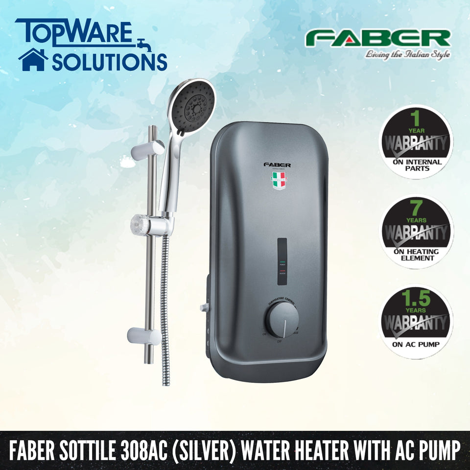 FABER Instant Water Heater FWH Sottile 308AC (SV), Water Heater, FABER - Topware Solutions