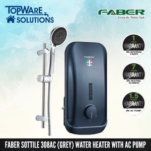 FABER Instant Water Heater FWH Sottile 308AC (GR), Water Heater, FABER - Topware Solutions