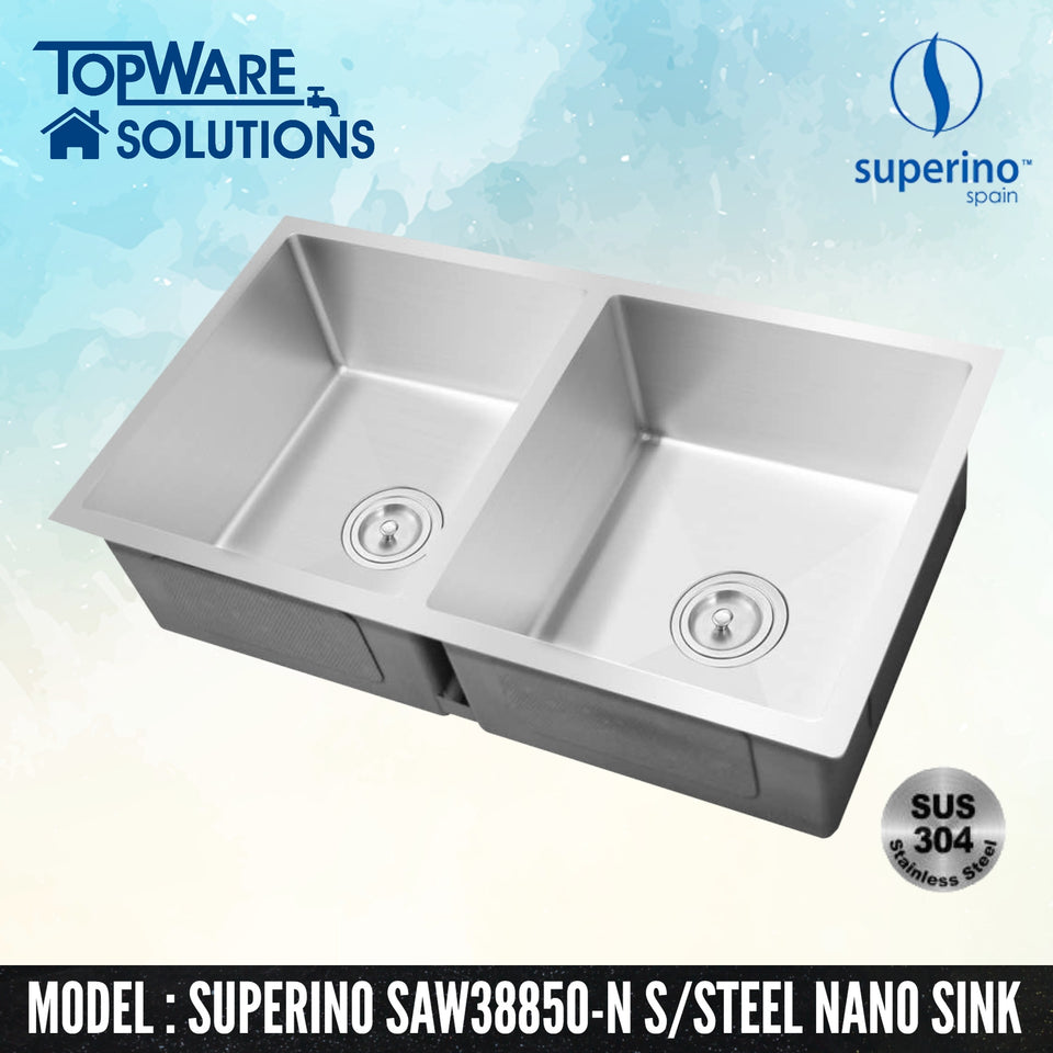 SUPERINO SUS304 Stainless Steel NANO Sink SAW38850-N
