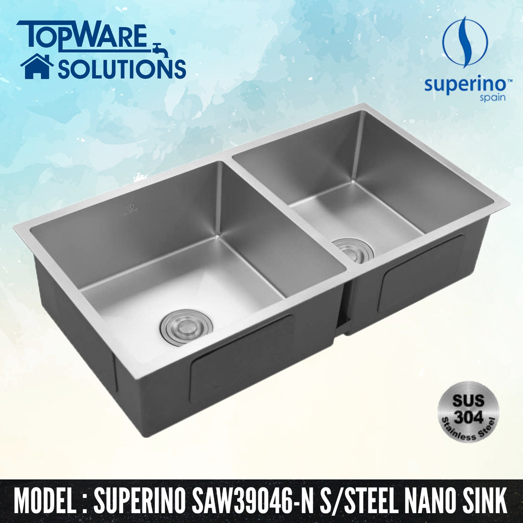 SUPERINO SUS304 Stainless Steel NANO Sink SAW39046-N, Kitchen Sinks, SUPERINO - Topware Solutions