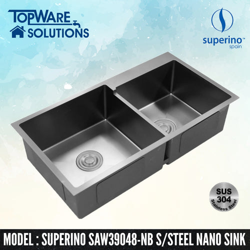 SUPERINO SUS304 Stainless Steel NANO BLACK Sink SAW39048-NB
