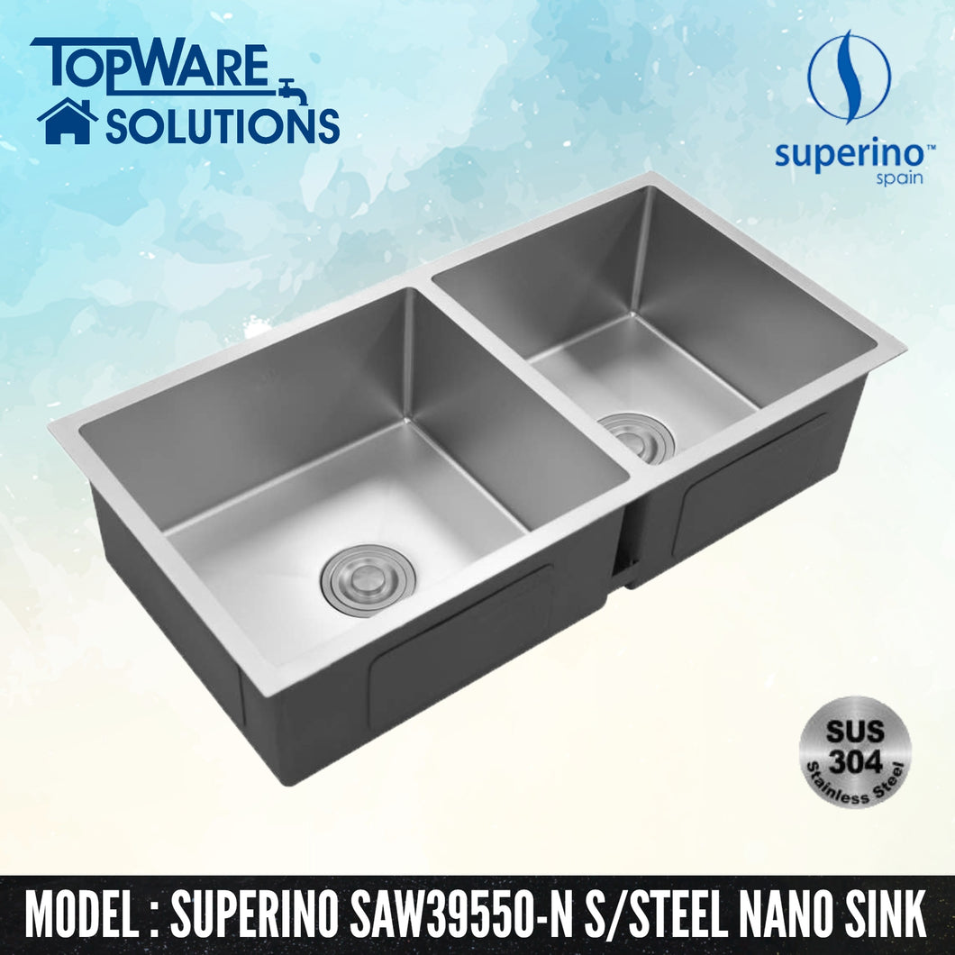 SUPERINO SUS304 Stainless Steel NANO Sink SAW39550-N, Kitchen Sinks, SUPERINO - Topware Solutions