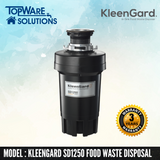 KLEENGARD Food Waste Disposer SD1250 Premium with 3 Year Warranty, Food Waste Disposer, KLEENGARD - Topware Solutions