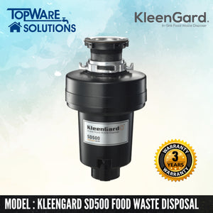 KLEENGARD Food Waste Disposer SD500 Heavy Duty with 3 Year Warranty, Food Waste Disposer, KLEENGARD - Topware Solutions