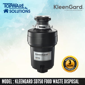 KLEENGARD Food Waste Disposer SD750 Deluxe with 3 Year Warranty, Food Waste Disposer, KLEENGARD - Topware Solutions