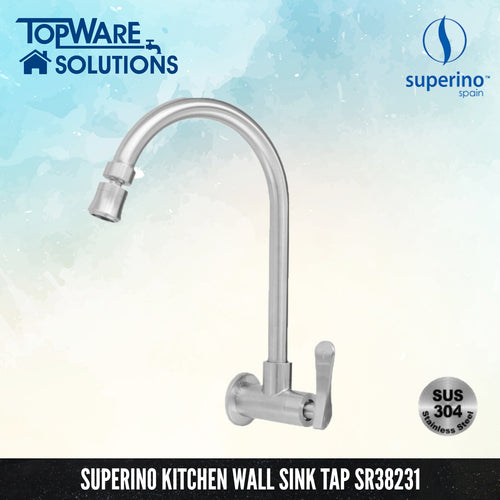 SUPERINO Kitchen Wall Sink Tap SR38231, Kitchen Faucets, SUPERINO - Topware Solutions