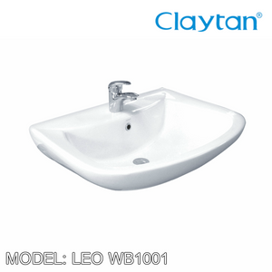 CLAYTAN Leo Wall Hung Basin WB1001, Bathroom Basins, CLAYTAN - Topware Solutions