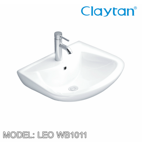 CLAYTAN Leo Wall Hung Basin WB1011, Bathroom Basins, CLAYTAN - Topware Solutions