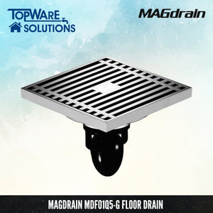 MAGDRAIN MDFO01Q5-G Floor Drain / Floor Grating [ Brass Chrome ]