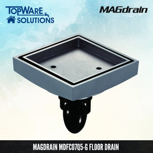 MAGDRAIN MDFC07Q5-G Floor Drain / Floor Grating [ Brass Chrome ]