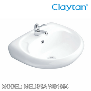 CLAYTAN Melissa Wall Hung Basin WB1054, Bathroom Basins, CLAYTAN - Topware Solutions