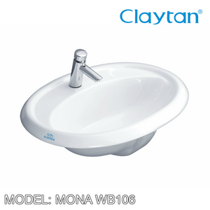 CLAYTAN Mona Counter Top Basin WB106, Bathroom Basins, CLAYTAN - Topware Solutions