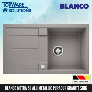BLANCO Metra 5S Silgranit™ PuraDur™ Granite Sink, Kitchen Sinks, BLANCO - Topware Solutions