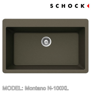 SCHOCK Granite Sink Cristadur Montano N-100XL, Kitchen Sinks, BARENO by SCHOCK - Topware Solutions