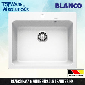 BLANCO Naya 6 Silgranit™ PuraDur™ Granite Sink, Kitchen Sinks, BLANCO - Topware Solutions